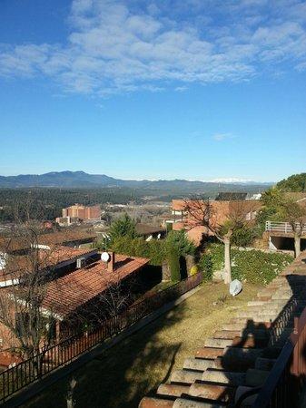 Montjuic Bed & Breakfast : uitzicht van het balkon