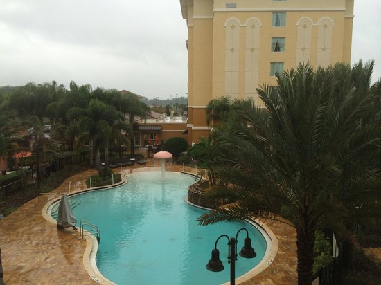 Homewood Suites by Hilton Lake Buena Vista-Orlando : Pileta desde la habitación