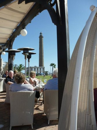 Maximilians  Restaurant. Pizza&Pasta.Boulevard El Faro: Maspolomas Lighthouse from Maximilians Restaurant