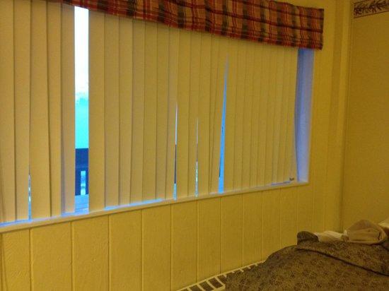 Chena Hot Springs Resort: Broken blinds