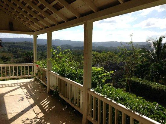 Good Hope Plantation: Viewof Cockpit Range from Good Hope porch
