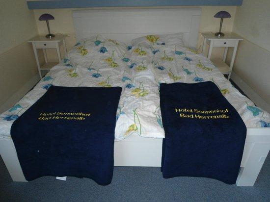 Hotel Sonnenhof garni: lits jumeaux de notre chambre