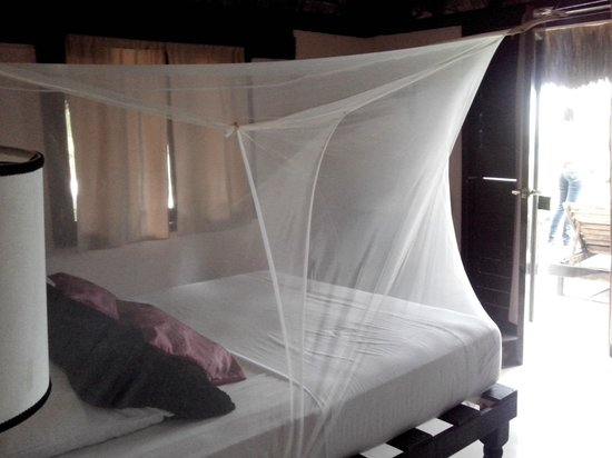 Playa Esperanza: Cama con mosquitero integrado