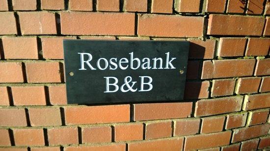 Rosebank B&B: Cornish Slate Sign