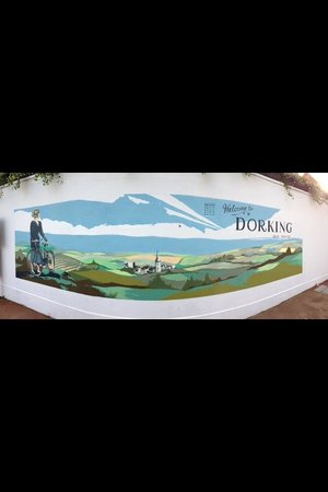 The Old House Dorking mural