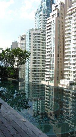 Hotel Muse Bangkok Langsuan, MGallery Collection: Pool und Aussicht von dort