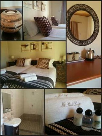N6 Guest Lodge: We have 3 en-suit Double rooms with aircon, DSTV, kettle for coffee and a microwave.