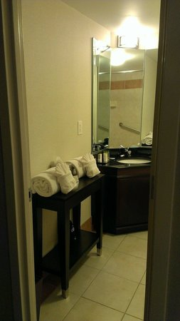 DoubleTree by Hilton Hotel Raleigh - Brownstone - University: Bathroom