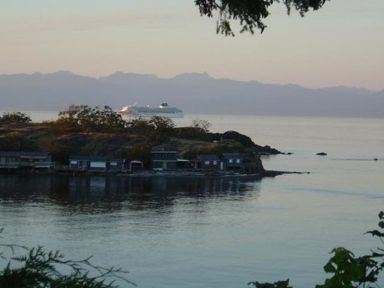 Hammond Bay Oceanside Bed & Breakfast: View with Shack Island and Cruise Ship