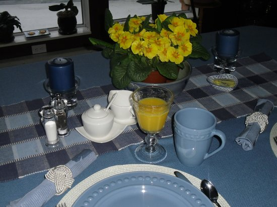 Hammond Bay Oceanside Bed & Breakfast: Breakfast Table