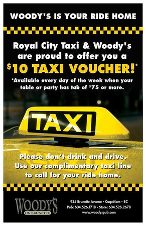 Woody's Pub: Free ride home