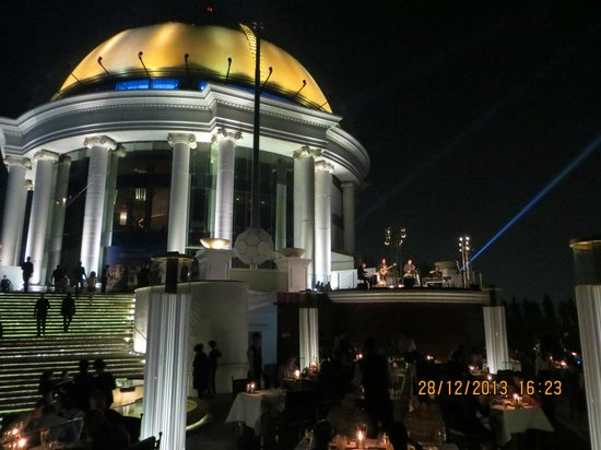 Sky Bar, Bangkok: cupola del grattacielo vista dallo sky-bar
