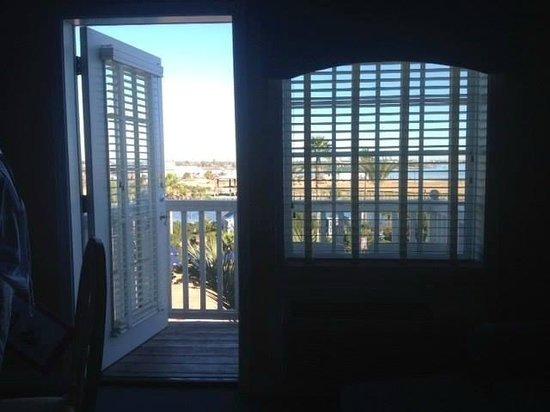 Boardwalk Inn: Looking out over balcony Room 420