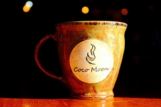 Coco Moon Coffee Bar: Locally-made mugs.