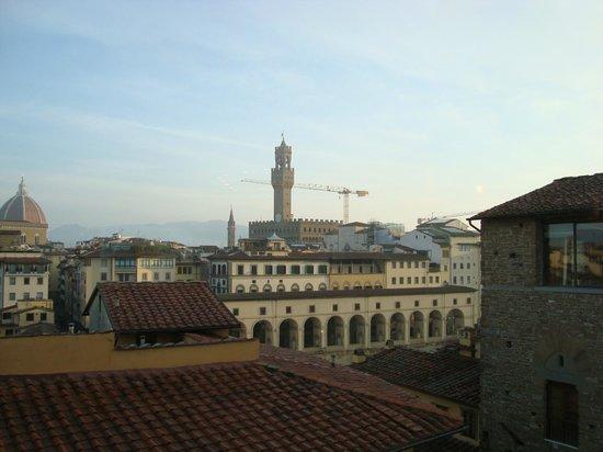 Pitti Palace al Ponte Vecchio: Cupola del Duomo e Torre di Palazzo Vecchio dal terrazzo dell'albergo