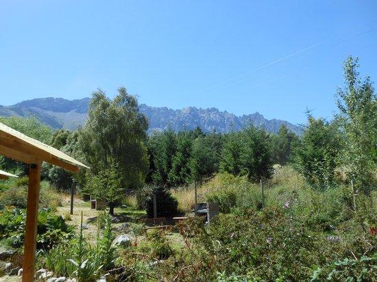 Cabañas El Arroyito: El patio individual de la cabaña