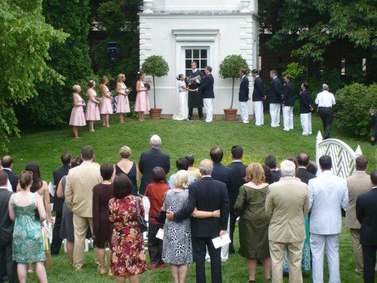 William Paca Garden : Ceremony in front of Summer House