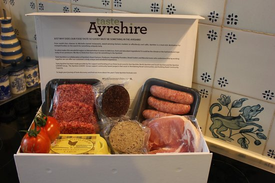Cosses Country House : Breakfast produce from Dalduff Farm shop