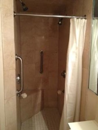 International Inn and Suites on Cape Cod: Shower with 4 heads and seat, Room 274, Princess Jr.