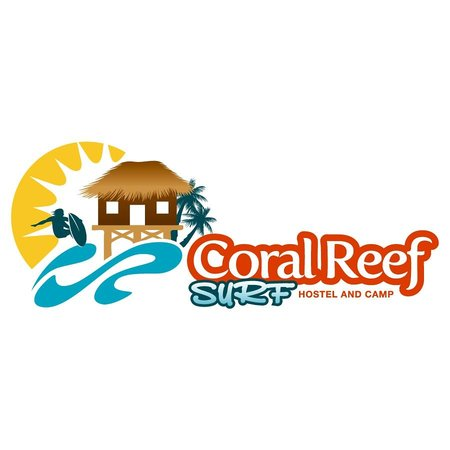logo picture of coral reef surf hostel tamarindo
