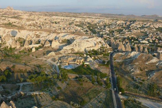 Tourist Hotel & Resort Cappadocia: Вид на отель с воздушного шара