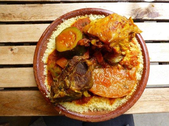 Marche des Enfants Rouges: Couscous from Traiteur Marocian Stall