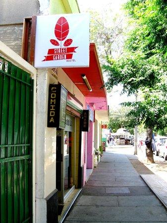 Street Garden Hostel: Entrada