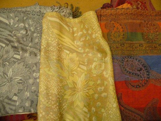 Ganesh Handicrafts caries a nice choice of textiles.