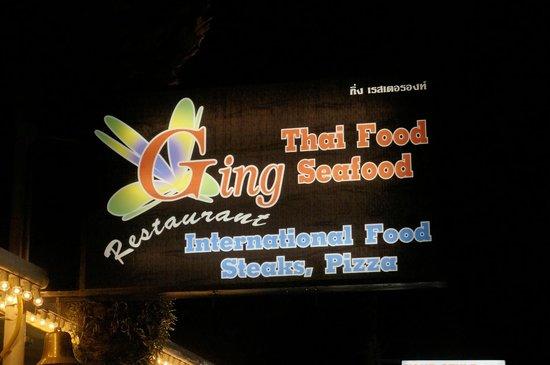 Ging Restaurant: Вывеска на улице
