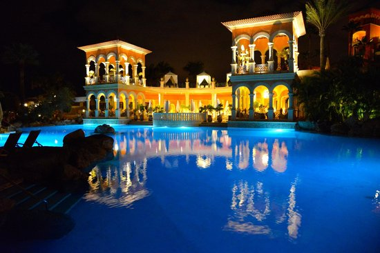 Iberostar Grand Hotel El Mirador: Pool area at night. Nikon d600