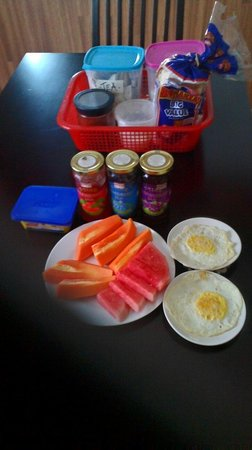 Ajit Guest House & Hotel: All our rooms include breakfast ,fruit, fresh eggs,bread, butter, jam, coffee  and tea..coffee