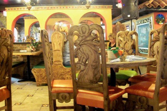 Monarcau0027s Authentic Mexican Cuisine Bar U0026 Grill: Furniture Was Hand Carved  In Mexico