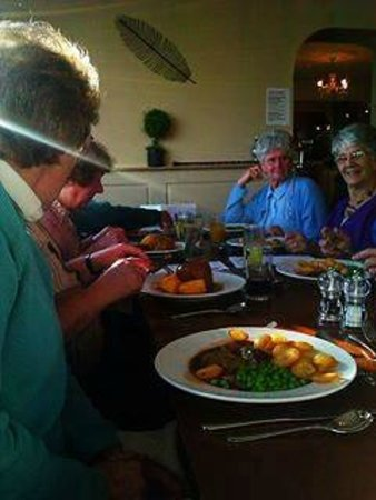 The Moorings: Our party enjoying their mains