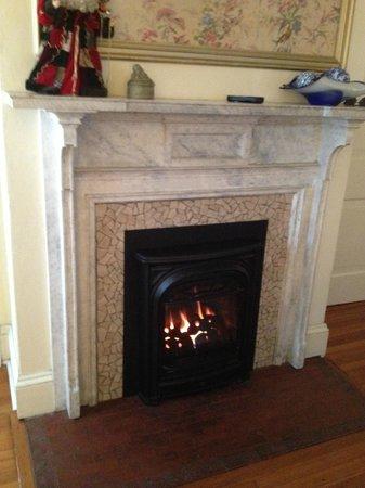 Carolina Bed & Breakfast : fireplace in the Hummingbird Room