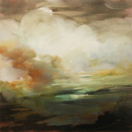 "Corners Gallery: Suzanne Onodera,""Cloud Study"", 12"" x 12"", Oil on panel, 2012."