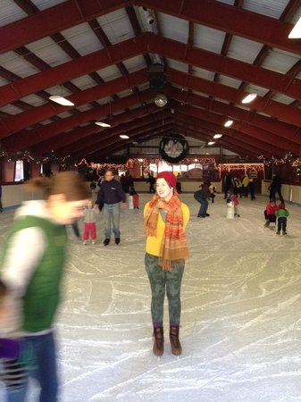 Long Barn Lodge : Ice skating rink...this beautiful woman will not always be there (sorry)