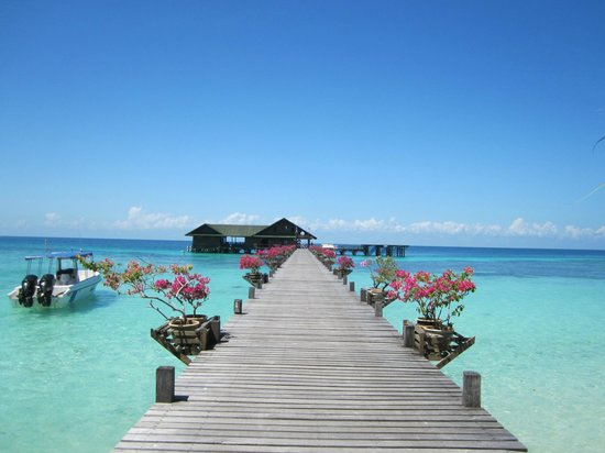 Lankayan Island Dive Resort : Dive centre/Jetty