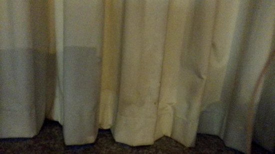 Lexington Inn at JFK Airport : Curtain after the most gisgusting one was taken down to be washed.