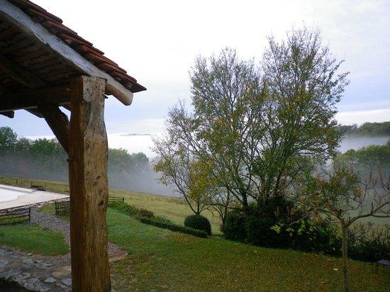 Les Hauts de Louchapt : vue de la terrasse