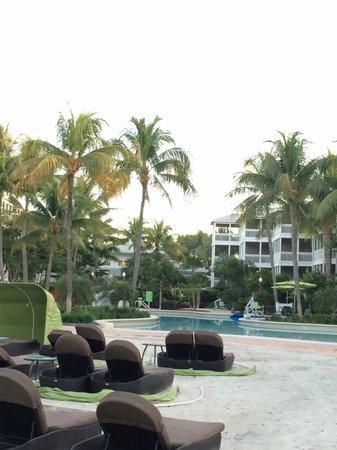 Hyatt Residence Club Key West, Beach House: little manmade beach facing the pool and resort