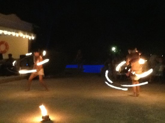 The Restaurant at the Palms at Pelican Cove: Gypsy Fire Dancers at Caribbean Night