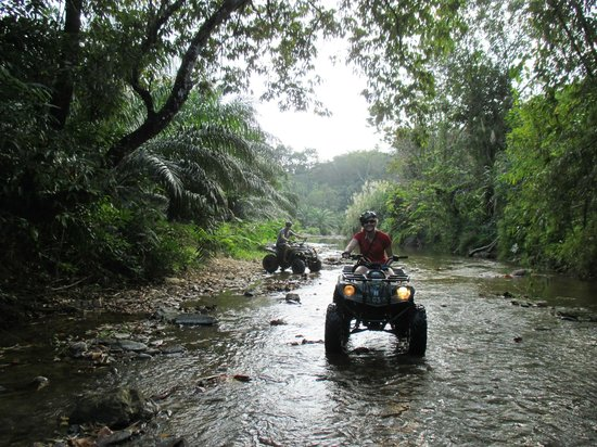 ATV Phuket Tours: ATVing in the river