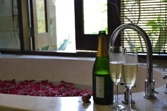 Gending Kedis Villas & Spa Estate : Bathtub