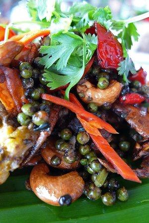 Metro Hassakan: soft shell crab , Kampot peppercorns
