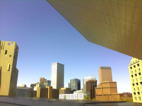 Denver Art Museum : View of downtown from DAM