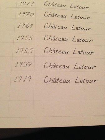 Rekondo : 1919 Chateau Latour