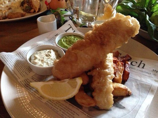 White Horse: Fish and chips