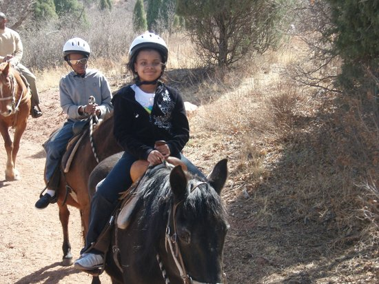 Academy Riding Stables: kids enjoying the easy ride