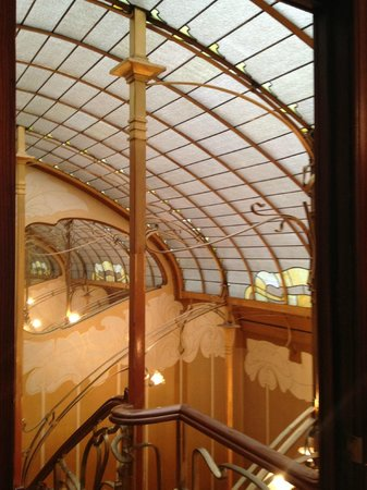 Horta Museum (Musee Horta): Διαφώτιστο κεντρικό κλιμακοστάσιο