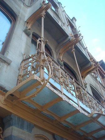 Horta Museum (Musee Horta): Το στέγαστρο της κεντρικής εισόδου
